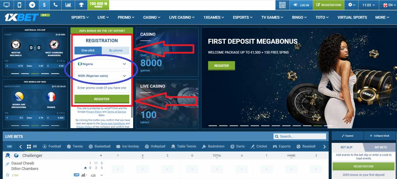 1xBet review of the company
